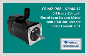 Leadshine Closed Loop Stepper Motor CS-M21708 NEMA 17 - MAS Auto Systems Pvt Ltd