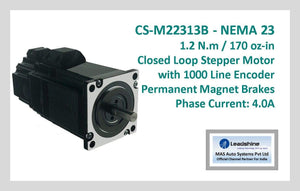 Leadshine Closed Loop Stepper Motor with Encoders & Brakes CS-M22313B NEMA 23 - MAS Auto Systems Pvt Ltd