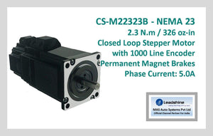 Leadshine Closed Loop Stepper Motor with Encoders & Brakes CS-M22323B NEMA 23 - MAS Auto Systems Pvt Ltd
