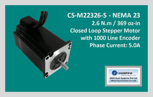 Leadshine Closed Loop Stepper Motor CS-M22326-S NEMA 23 - MAS Auto Systems Pvt Ltd