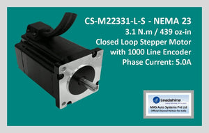 Leadshine Closed Loop Stepper Motor CS-M22331-L-S NEMA 23 - MAS Auto Systems Pvt Ltd