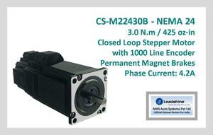 Leadshine Closed Loop Stepper Motor with Encoders & Brakes CS-M22430B NEMA 24 - MAS Auto Systems Pvt Ltd