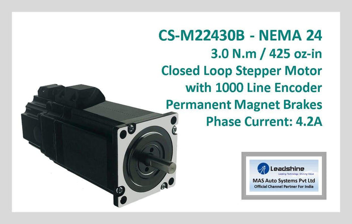 Leadshine Closed Loop Stepper Motor with Encoders & Brakes CS-M22430B NEMA 24