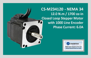 Leadshine Closed Loop Stepper Motor CS-M234120 NEMA 34 - MAS Auto Systems Pvt Ltd