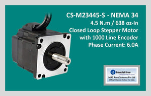 Leadshine Closed Loop Stepper Motor CS-M23445-S NEMA 34 - MAS Auto Systems Pvt Ltd