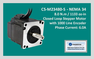 Leadshine Closed Loop Stepper Motor CS-M23480-S NEMA 34 - MAS Auto Systems Pvt Ltd