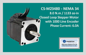 Leadshine Closed Loop Stepper Motor CS-M23480 NEMA 34 - MAS Auto Systems Pvt Ltd