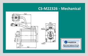 Leadshine Closed Loop Stepper Motor CS-M22326 NEMA 23 - MAS Auto Systems Pvt Ltd