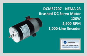 Leadshine Brushed DC Servo Motor DCM57207 - NEMA 23 - MAS Auto Systems Pvt Ltd