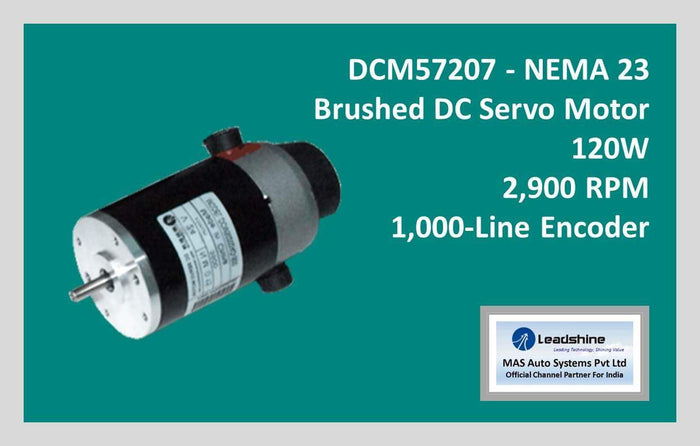Leadshine Brushed DC Servo Motor DCM57207 - NEMA 23