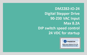 Leadshine Digital Stepper Drive DM Series - DM2282-IO-24 - MAS Auto Systems Pvt Ltd