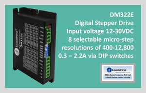 Leadshine Digital Stepper Drive DM Series - DM322E - MAS Auto Systems Pvt Ltd