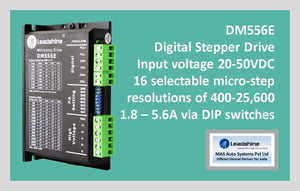 Leadshine Digital Stepper Drive DM Series - DM556E - MAS Auto Systems Pvt Ltd