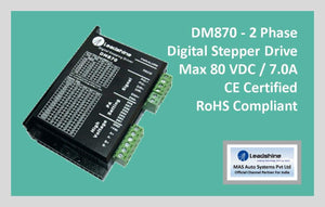 Leadshine Digital Stepper Drive DM Series - DM870 - MAS Auto Systems Pvt Ltd