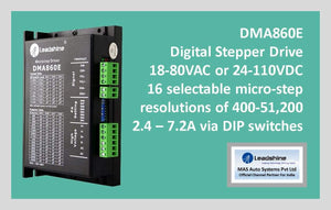 Leadshine Digital Stepper Drive DM Series - DMA860E - MAS Auto Systems Pvt Ltd