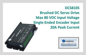 Leadshine Brushed DC Servo Drive DCS810S - MAS Auto Systems Pvt Ltd