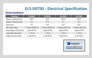 Leadshine High Voltage AC Servo Drive EL5-D0750 - MAS Auto Systems Pvt Ltd