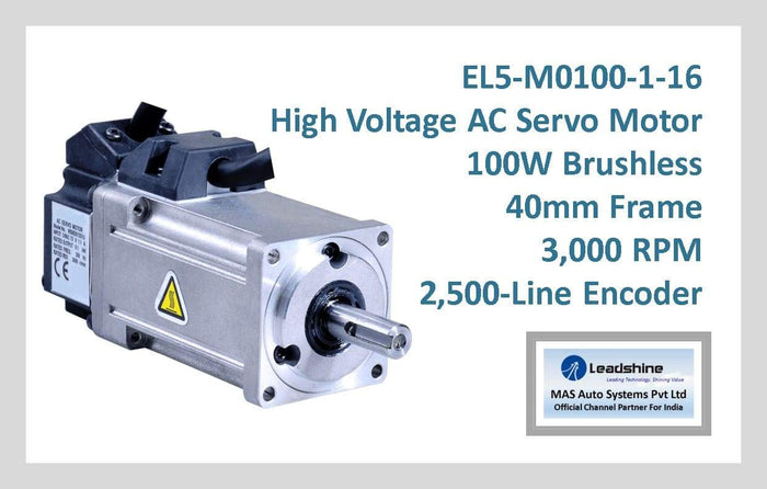 Leadshine High Voltage AC Servo Motor EL5-M0100-1-16