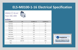 Leadshine High Voltage AC Servo Motor EL5-M0100-1-16 - MAS Auto Systems Pvt Ltd