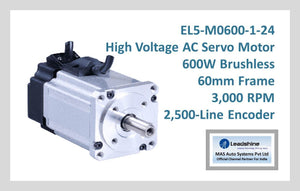 Leadshine High Voltage AC Servo Motor EL5-M0600-1-24 - MAS Auto Systems Pvt Ltd
