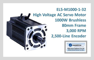 Leadshine High Voltage AC Servo Motor EL5-M1000-1-32 - MAS Auto Systems Pvt Ltd