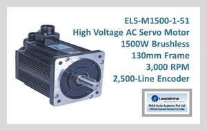 Leadshine High Voltage AC Servo Motor EL5-M1500-1-51 - MAS Auto Systems Pvt Ltd