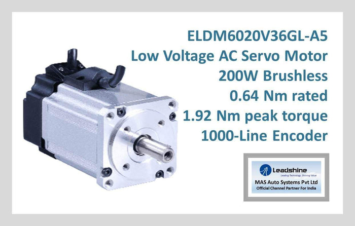 Leadshine Low Voltage AC Servo Motor ELDM Series ELDM6020V36GL-A5