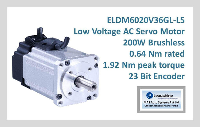Leadshine Low Voltage AC Servo Motor ELDM Series ELDM6020V36GL-L5