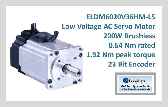 Leadshine Low Voltage AC Servo Motor ELDM Series ELDM6020V36HM-L5
