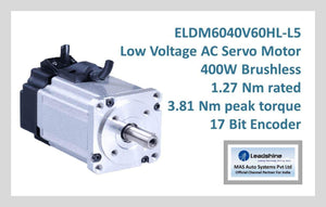 Leadshine Low Voltage AC Servo Motor ELDM Series ELDM6040V60HL-L5 - MAS Auto Systems Pvt Ltd