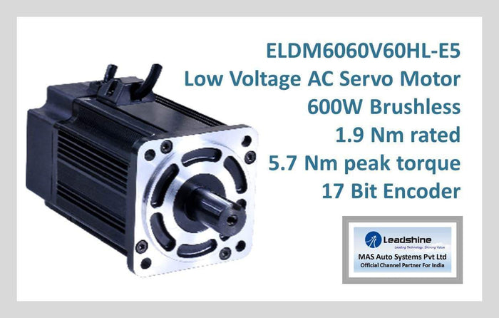 Leadshine Low Voltage AC Servo Motor ELDM Series ELDM6060V60HL-E5