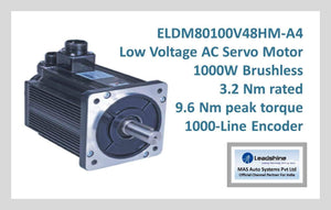 Leadshine Low Voltage AC Servo Motor ELDM Series ELDM80100V48HM-A4 - MAS Auto Systems Pvt Ltd