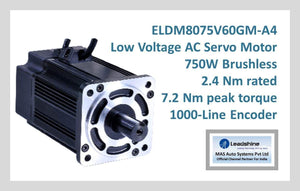 Leadshine Low Voltage AC Servo Motor ELDM Series ELDM8075V60GM-A4 - MAS Auto Systems Pvt Ltd