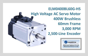 Leadshine High Voltage AC Servo Motor ELM0400BL60G-HS - MAS Auto Systems Pvt Ltd