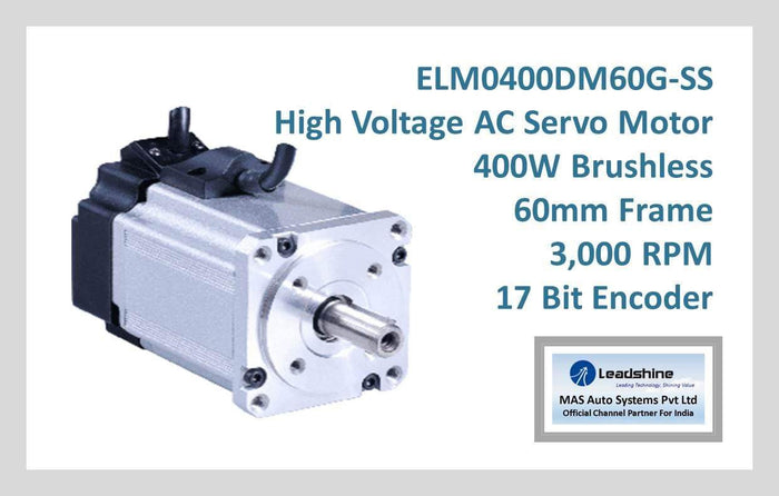 Leadshine High Voltage AC Servo Motor ELM0400DM60G-SS