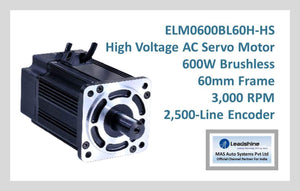 Leadshine High Voltage AC Servo Motor ELM0600BL60H-HS - MAS Auto Systems Pvt Ltd