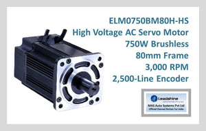 Leadshine High Voltage AC Servo Motor ELM0750BM80H-HS - MAS Auto Systems Pvt Ltd