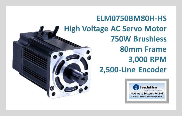 Leadshine High Voltage AC Servo Motor ELM0750BM80H-HS