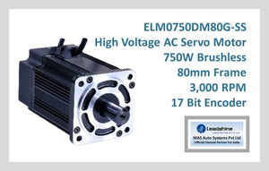 Leadshine High Voltage AC Servo Motor ELM0750DM80G-SS - MAS Auto Systems Pvt Ltd