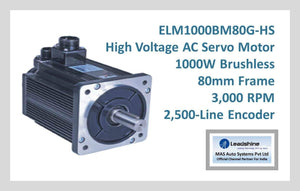 Leadshine High Voltage AC Servo Motor ELM1000BM80G-HS - MAS Auto Systems Pvt Ltd