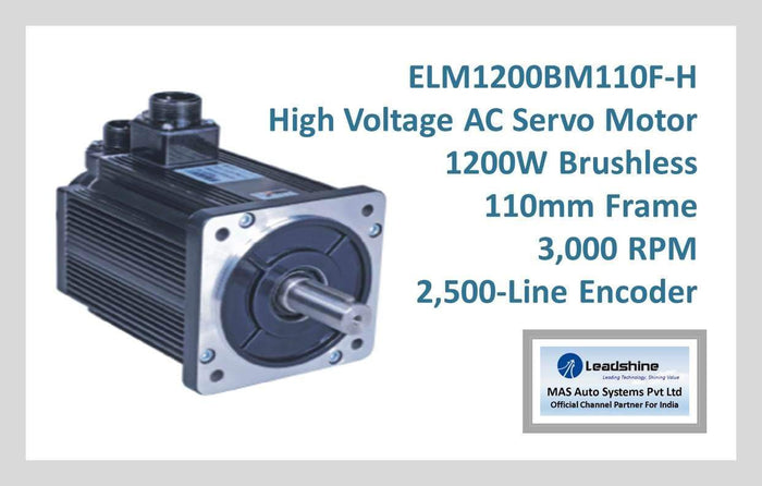 Leadshine High Voltage AC Servo Motor ELM1200BM110F-H