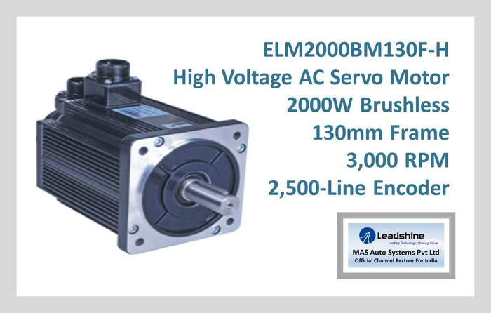 Leadshine High Voltage AC Servo Motor ELM2000BM130F-H
