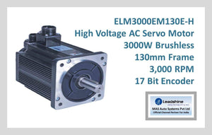 Leadshine High Voltage AC Servo Motor EM-S Series - ELM3000EM130E-H - MAS Auto Systems Pvt Ltd
