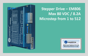 Leadshine Stepper Drive EM806 - MAS Auto Systems Pvt Ltd
