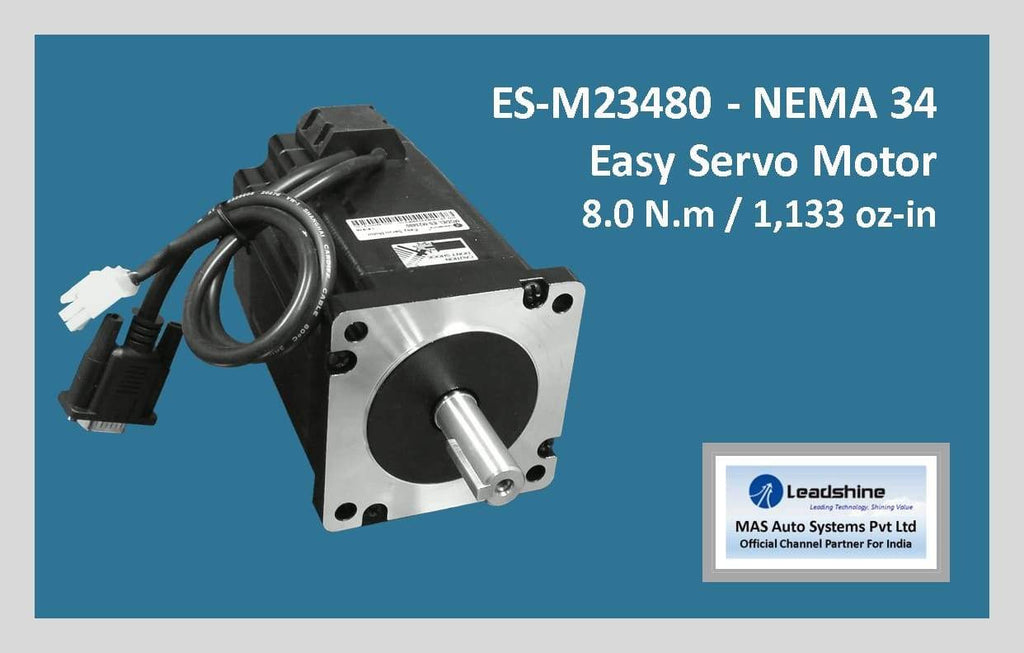 Leadshine Easy Servo Motor ES-M23480 NEMA 34 - MAS Auto Systems Pvt Ltd