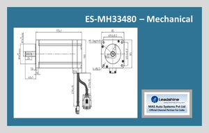 Leadshine Easy Servo Motor ES-MH33480 NEMA 34 - MAS Auto Systems Pvt Ltd