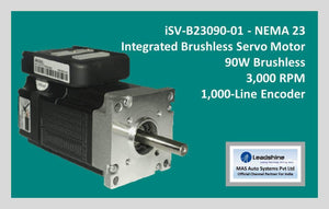 Leadshine Integrated Brushless Servo Motor iSV-B23090-01 - NEMA 23 - MAS Auto Systems Pvt Ltd