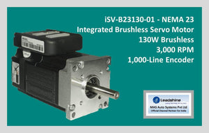 Leadshine Integrated Brushless Servo Motor iSV-B23130-01 - NEMA 23 - MAS Auto Systems Pvt Ltd