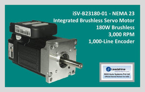 Leadshine Integrated Brushless Servo Motor iSV-B23180-01 - NEMA 23 - MAS Auto Systems Pvt Ltd
