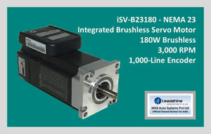 Leadshine Integrated Brushless Servo Motor iSV-B23180 - NEMA 23 - MAS Auto Systems Pvt Ltd